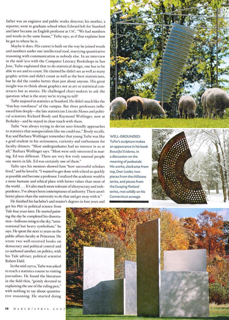 Edward Tufte Forum  About Et  Esquire  New York Magazine
