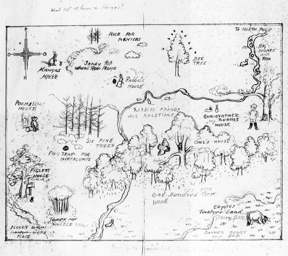 Edward Tufte forum: Unusual maps on 100 aker wood map, city map, drawing of a town map, gemini map, kingdom hearts 100-acre wood map, wooden story map, 100-acre wood rally map, 100-acre wood forest map, once upon a time map,