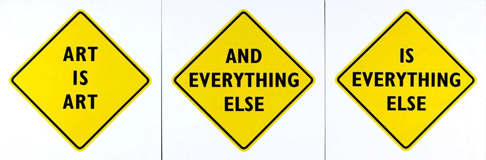 Art is Art: Edward Tufte Philosophical Diamond Signs