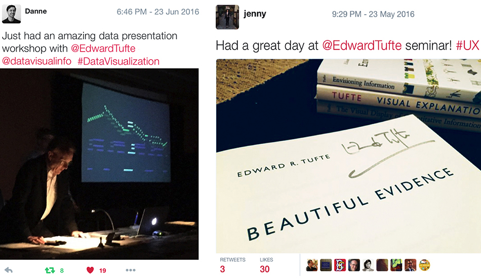 Edward Tufte course reviews  tufte one-day class  statistics data