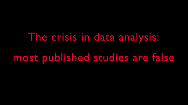 The crisis in data analysis